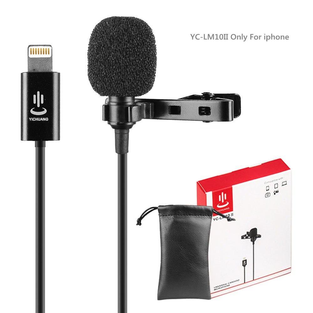 YC-LM10 II конденсаторний Всенаправлений мікрофон для iPhone X 8 7 6 6s Plus Canon аудіо відео телефон
