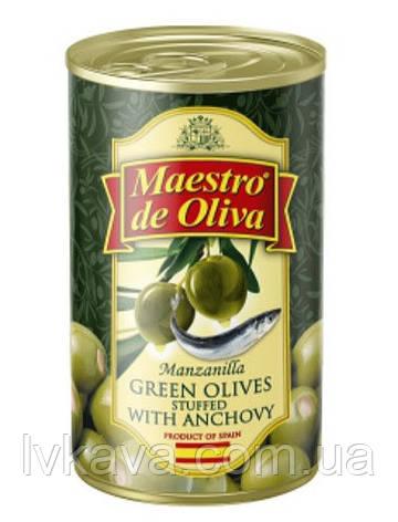 Оливки зеленые с анчоусом  Maestro de Oliva  , 280  гр, фото 2
