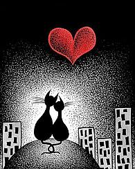 """Набор алмазной вышивки (мозаики) """"Любовь в ночном городе"""""""