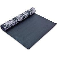 Коврик для йоги и фитнеса PVC двухслойный 4мм (размер 173смx61смx4мм)