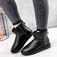 Узкие женские кожаные черные угги , размер 36,37,38,39,40