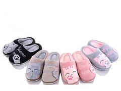 Детские меховые тапочки комнатные для дома домашние для девочки 28-33 р котик K101
