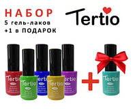 Набор гель лаков Tertio 5+1 в подарок