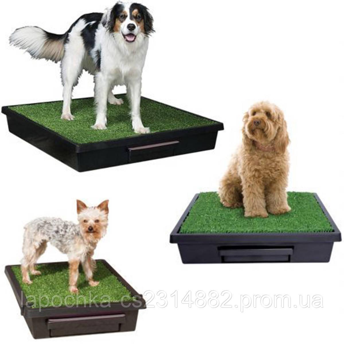 Туалет для собак Croci Loo портативный, имитация травы, 84x84x14cм