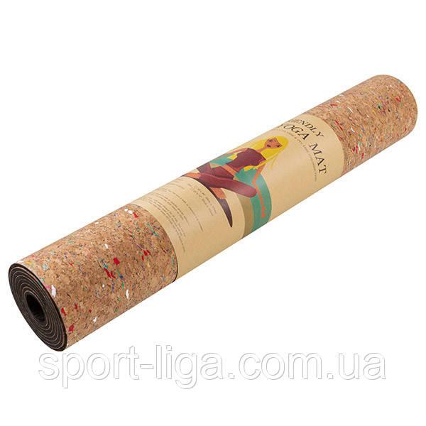 Йогамат, килимок для фітнесу і йоги, 6 мм, 183см*61см