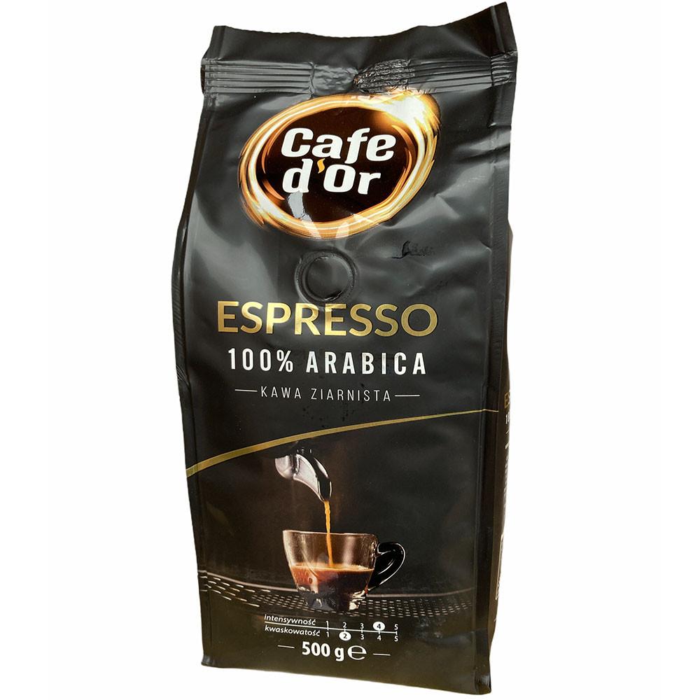 Кофе в зернах Espresso 100 % arabica Cafe d'Or