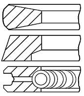 Кільця поршневі MAN 108.0 (3/2.5/4) D0824LF/LFL/LOH/D0826LF/LE/LFL (пр-во групи kolbenschmidt), 800014610000
