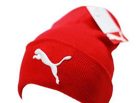 Теплая шапка с подворотом