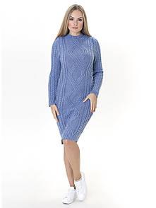 Тепле в'язане плаття Irvik PL548D джинс