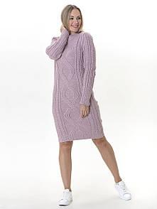 Тепле в'язане плаття Irvik PL548P рожевий