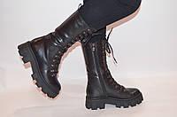 Ботинки женкие зимние чёрные кожаные Fereski1273-23 размеры 37,38, фото 1