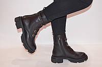 Ботинки женские зимние чёрные кожаные Fereski 1201-201, фото 1