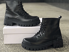 Жіночі черевики Balenciaga Strike Lace-Boot Up Black 589338WA9601000 (матові), фото 3