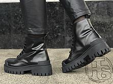 Жіночі черевики Balenciaga Strike Lace-Boot Up Black 589338WA9601000 (матові), фото 2