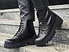 Женские ботинки Balenciaga Strike Lace-Up Boot Black 589338WA9601000 (матовые), фото 2