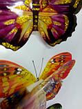 Наклейки бабочки объемные, цена за 1 планшетку( 4 бабочки), фото 2
