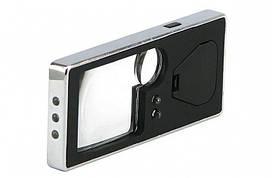 Лупа Magnifier TH-7007 карманная с led подсветкой 3x 10x