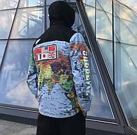"""Мужская/молодежная брендовая куртка TNF x Supreme """"Map"""""""