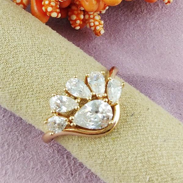 Кольцо Xuping Jewelry размер 17 Нева медицинское золото позолота 18К А/В 2-0306