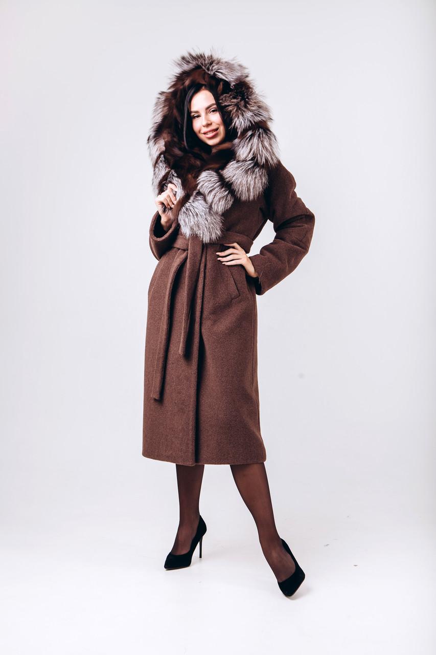Зимнее длинное пальто с капюшоном O.Z.Z.E Д 337