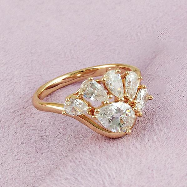 Кольцо Xuping Jewelry размер 18 Нева медицинское золото позолота 18К А/В 2-0307