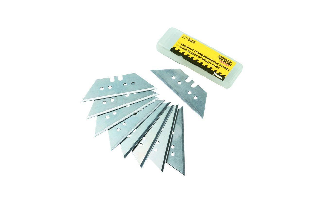 Лезвие трапециевидное Mastertool - 60 х 19 мм (10 шт.) 1 шт.
