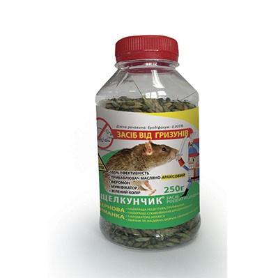 Родентицид Щелкунчик зерно арахис, зелен. 250 г — яд для уничтожения крыс и мышей