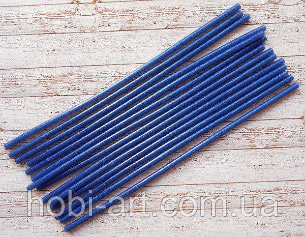 Термо клей з синім глітером, 7х300мм