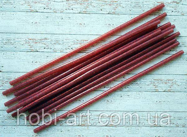 Термо клей з червоним глітером, 7х300мм