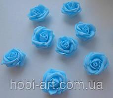 Бутони троянди 40 мм  № 01 блакитний