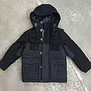 Детское пальто для мальчика зимнее стильное теплое Next, возраст 5-8 лет, цвет темно серый, фото 2