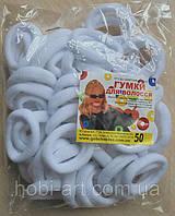 Набір резинок (Калуш) № 16, 4 см (упаковка 50шт) біла