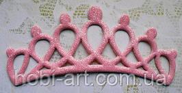 Аплікація корона (рожева)  12,7х5см, АР-238