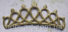 Аплікація корона (золотиста)  12,7х5см, АР-242