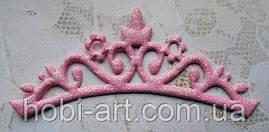 Аплікація корона (рожева)  12,5х5см, АР-245