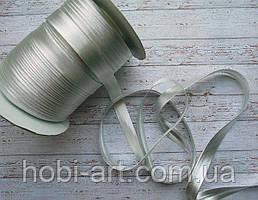 Коса бейка атласна 15мм срібна