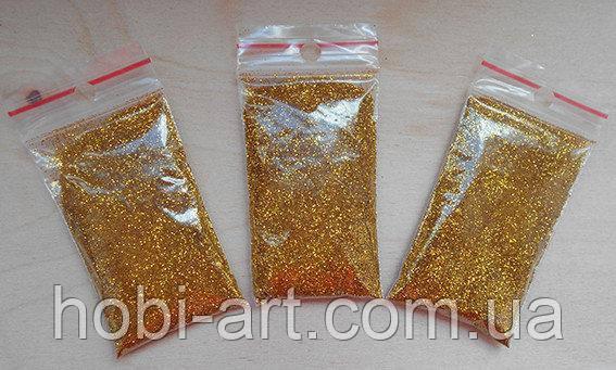 Глітер №07 золото (новинка)  10 грам