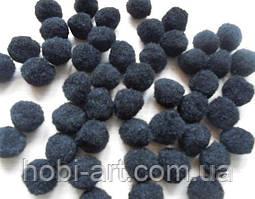 Помпони, 1,8 см, чорні, упаковка 10 шт