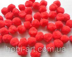 Помпони, 1,8 см, червоні, упаковка 10 шт