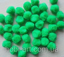 Помпони, 1,8 см, зелені, упаковка 10 шт