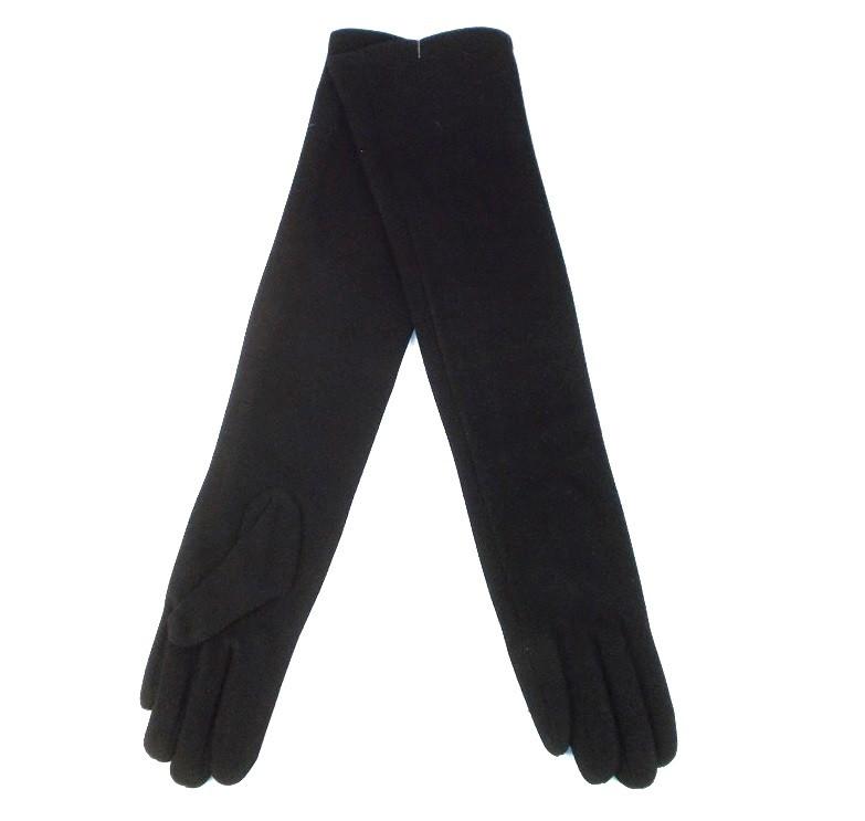 Перчатки длинные на флисе размер 9 черные