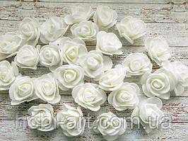Бутони троянди 30 мм № 08 (білі)