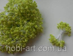 Тичинка в цукрі 4-5мм № 09 хакі (оливкова), 50 ниток, 100шт. (ТІ-679)