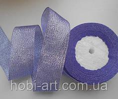 Стрічка парчева 40мм №02 фіолетова