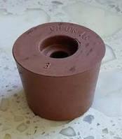 Пробка резиновая ø 37-45мм для гидрозатвора на бутыль с отверстием ø 9мм под гидрозатвор