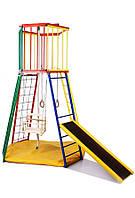 Детский спортивный Комплекс-уголок для дома и улицы: рукоход, лестница, качели, горка 154х154х220см 62184