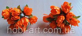 Підсніжник (пучок 10 шт) № 04 білі оранжеві