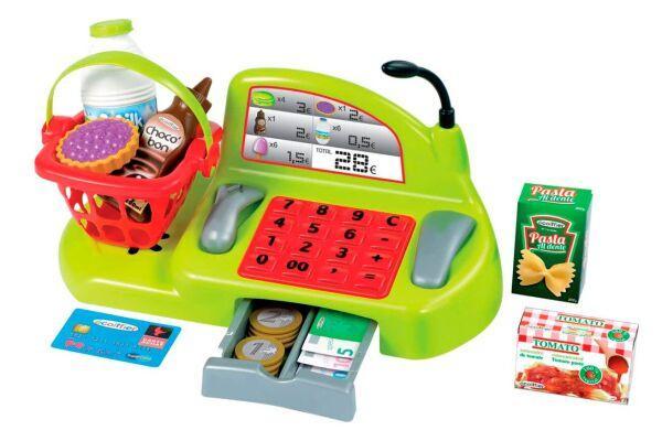 """Игровой набор """"Касса"""" с продуктами и аксессуарами, Ecoiffer 001230"""