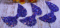 Аплікація № 276  5х3,5см (темно-синій+персиковий перелив)