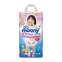Moony подгузники – трусики Air Fit L  (9-14) кг, 44 шт. для девочки